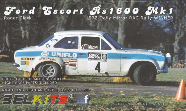 voiture Belkits Ford Escort RS1600 RAC 1972