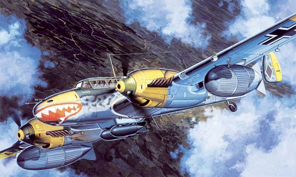 avion Dragon Meserschmitt Bf110D-3