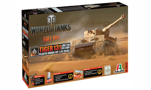 "militaire Italeri Tiger 131 ""World of Tanks"""