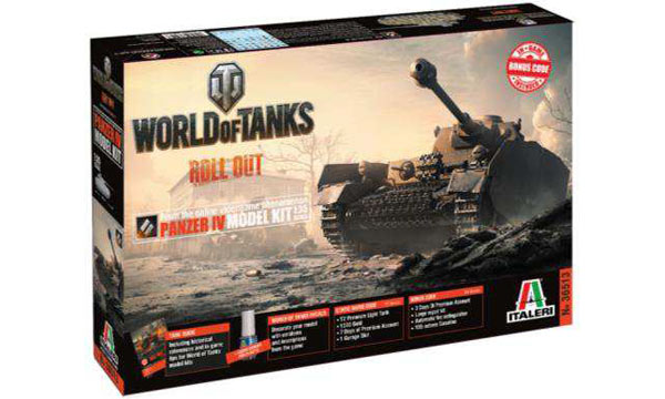 "militaire Italeri Panzer IV ""World of Tanks"""