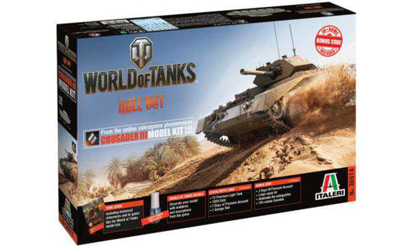 "militaire Italeri Crusader III ""World of Tanks"""