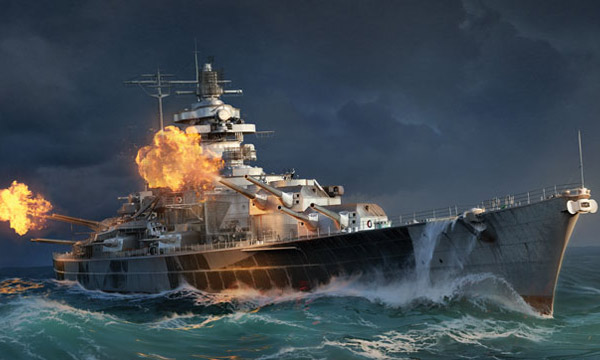 "bateau Italeri Tirpitz ""World of Warships"""