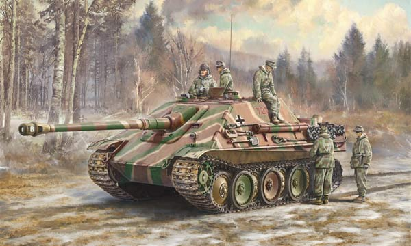 militaire Italeri Jagdpanther et Equipage