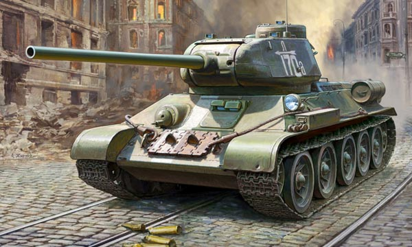 militaire Zvezda Char Russe T-34/85